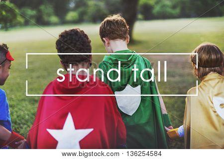 Stand Tall Proud Confident Unique Pride Concept
