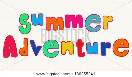 Bright Summer Adventure Lettering