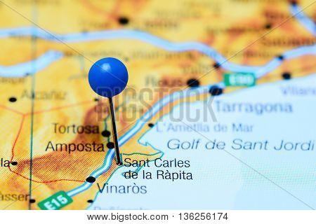 Sant Carles de la Rapita pinned on a map of Spain