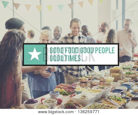 Good Food Good Mood Nutrition Organic Concept