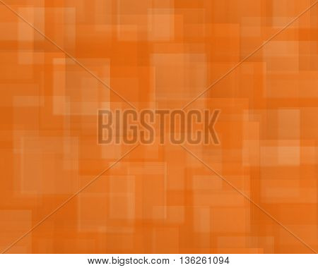 Abstract background of squares and rectangles shapes in nuance in vivid Orange color