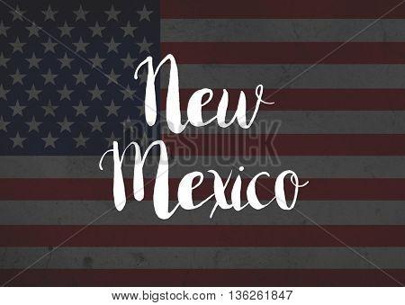 New Mexico written on flag