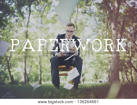 Paperwork Administrative Archive Contracts Job Concept