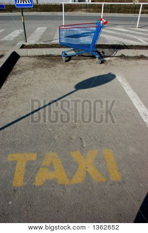Shoping Basket As Taxi