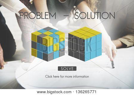 Problem Solution Decision Solving Strategy Ideas Concept