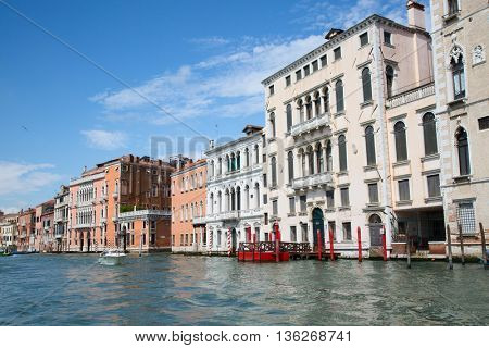 Streets of the ancient city Venice, Italy