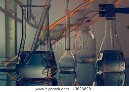 Science  Chemical background copyspace