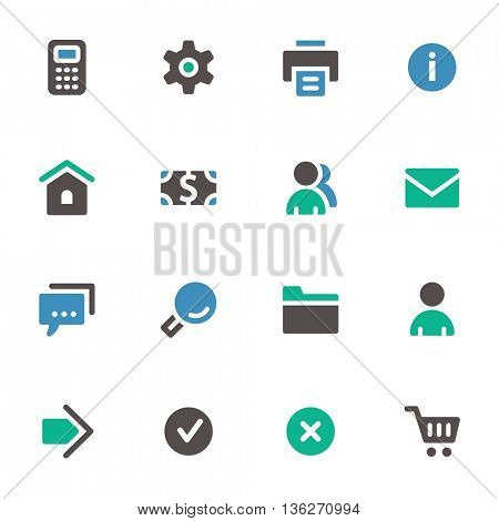Basic web icons set. Mobile screen symbols.