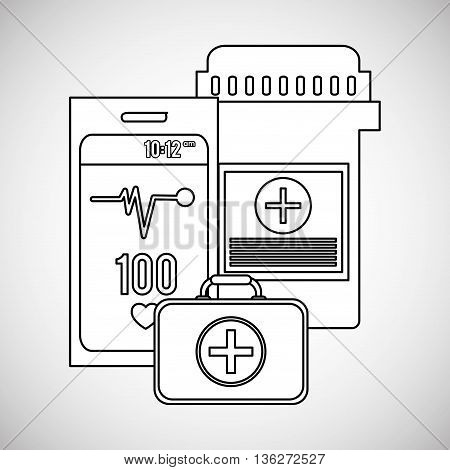 Medical care concept with icon design, vector illustration 10 eps graphic.