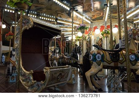 zurich,swiss: empty merry-go-round at night in carnival switzerland by zhudifeng on Oct 10 2015