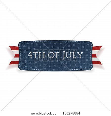 4th of July national Banner. Vector Illustration