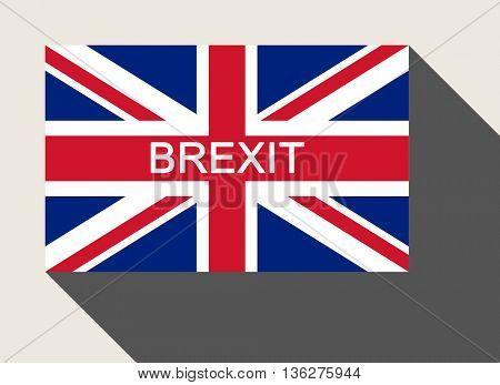 United Kingdom Brexit flag in flat web design style.