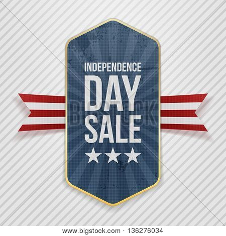 Independence Day Sale festive Tag. Vector Illustration