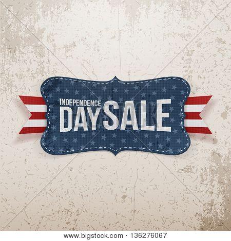 Independence Day Sale patriotic Emblem. Vector Illustration
