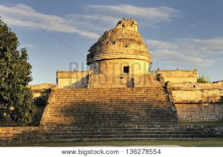 The observatory at Chichen Itza mexoco Yucatan