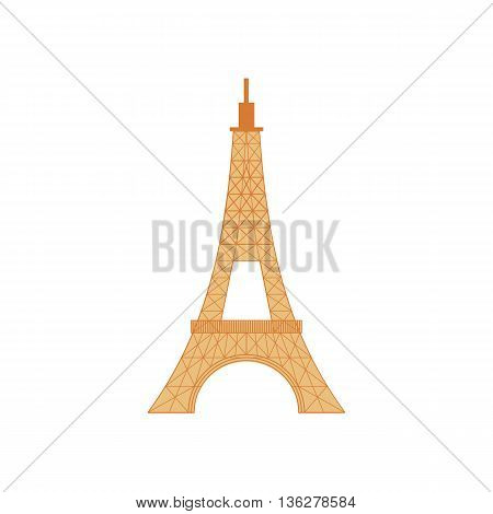 Eiffel Tower icon in cartoon style on a white background