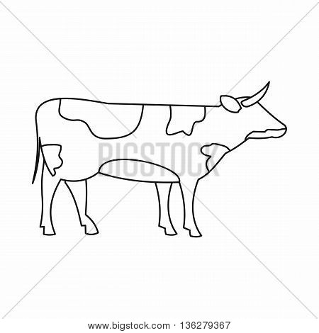 Switzerland cow icon in outline style isolated on white background
