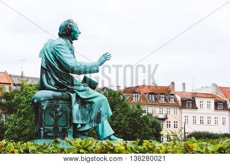 Hans Christian Andersen Statue In Rosenborg Garden, Copenhagen, Denmark - September, 23Th, 2015. Bro