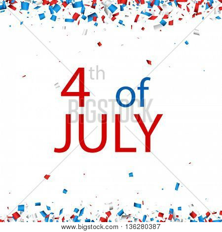 4th of July Independence Day background. Vector paper illustration.