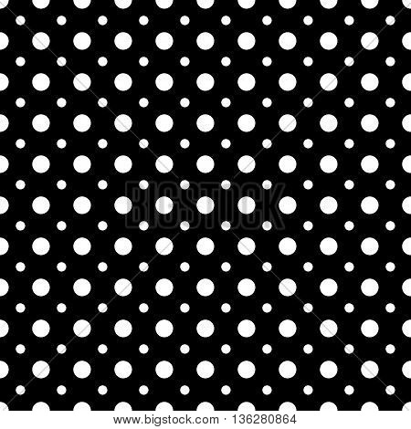 Polka dot black seamless pattern. Fashion graphic background design. Modern stylish abstract texture. Monochrome template for prints textiles wrapping wallpaper website etc. VECTOR illustration