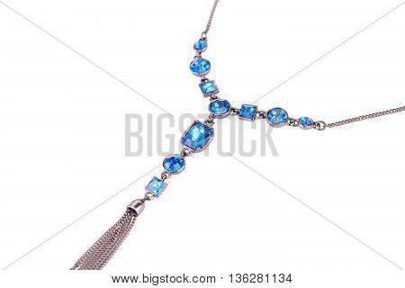 Stylish necklace isolated on a white background.