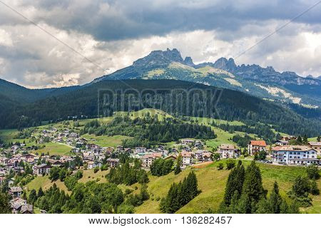 Village In The Dolomites Near Vigo