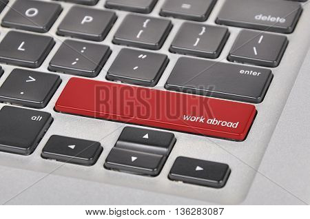 The Computer Keyboard Button Written Word Work Abroad