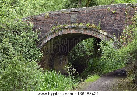 Whitehall Canal Bridge 1784 over the Thames & Severn Canal in Strouds Golden Valley Gloucestershire