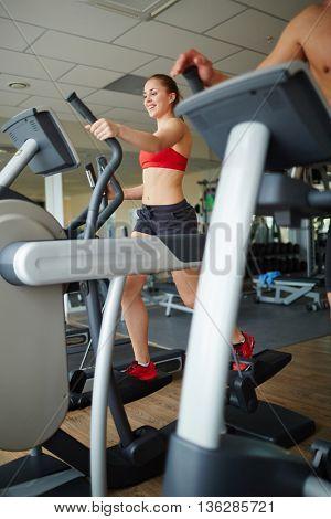 Training on sportive equipment
