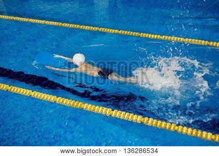 Swimmer in pool