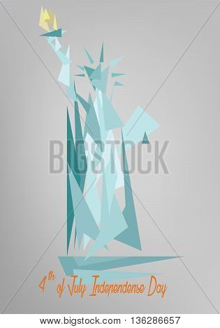 Vector - Liberty 4th July abstract color style