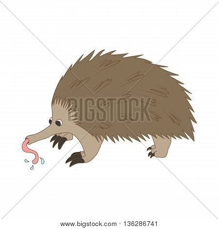 Anteater icon in cartoon style isolated on white background. Animals symbol