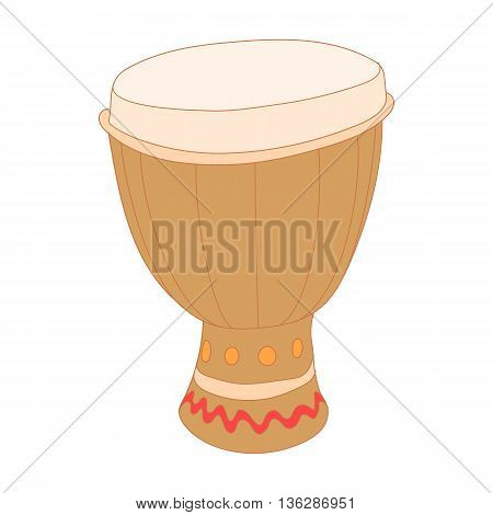 Drum of aborigines icon in cartoon style isolated on white background. Musical instruments symbol
