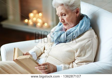 Pensioner reading