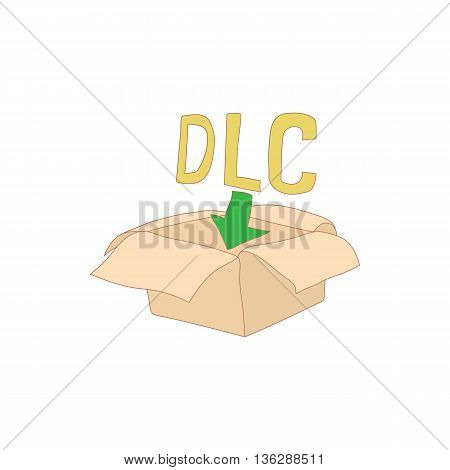 Downloadable legal content icon in cartoon style isolated on white background. Game symbol