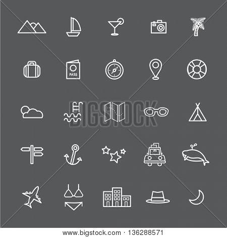Travel Destination Icon Vectors Illustration Concept