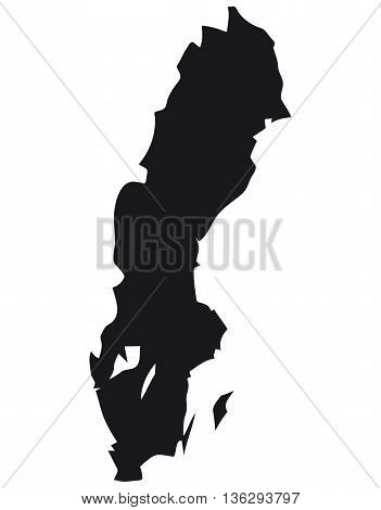 swede cartography map vector black color urban