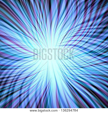 Abstract bright blue plasmatic texture on black background