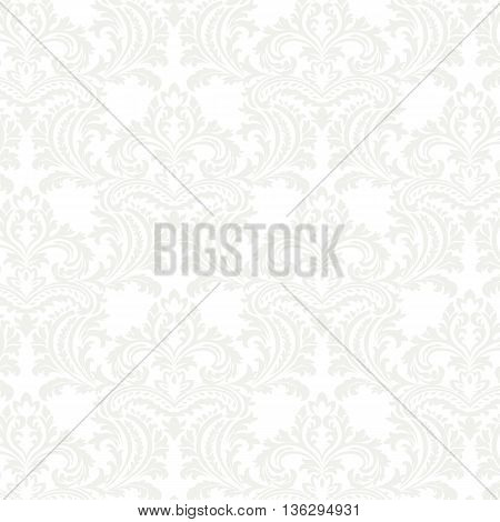 Vector floral damask pattern background. Luxury classic floral damask ornament royal Victorian vintage texture for textile fabric. Floral baroque element