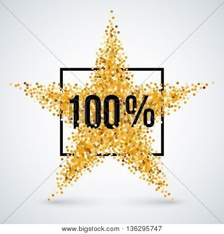 Golden Star and Frame with Discount Ten Percent