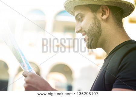 Tourist exploring a new city