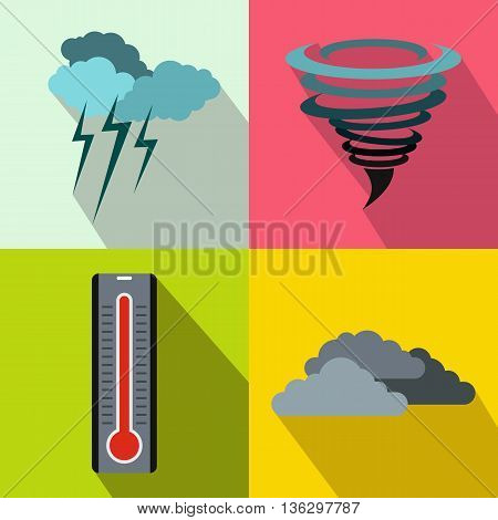 Weather banners set in flat style for any design