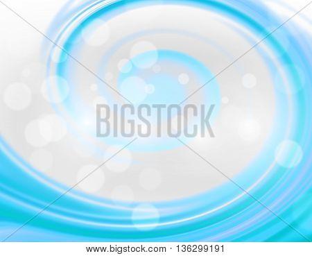 Blue blurry light spiral background design illustration