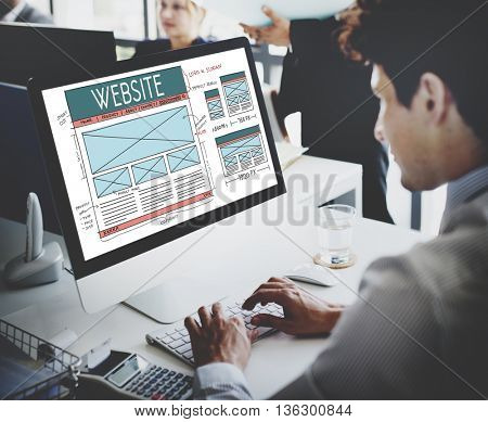 Website WWW Web Browser Connection Network Concept