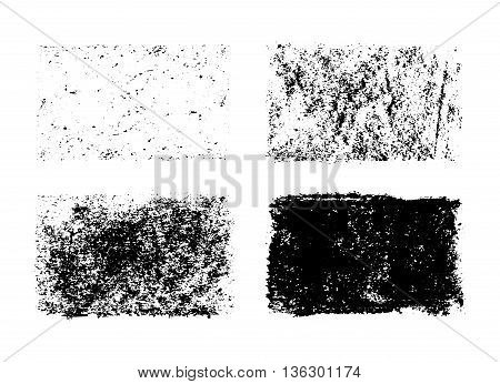 Vector Hand Drawn Collection Of Grunge Textures