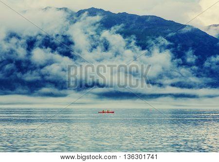 Kayaking in Alaska, United States
