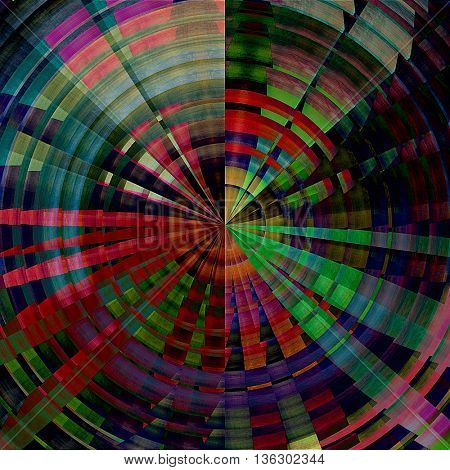 art abstract graphic spherical grunge colored background in rainbow colors; geometric pattern