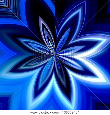 art abstract graphic spherical monochrome blurred background in blue and white colors; geometric pattern