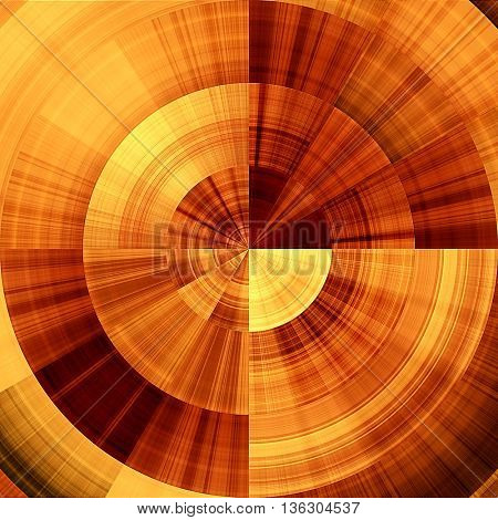 art abstract graphic spherical monochrome grunge background in orange, red, gold and brown colors; geometric pattern