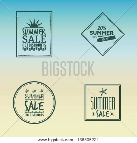 Abstract summer sale labels on a special background